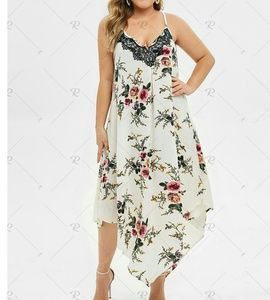 NWT Rosegal beachy, flow-y asymmetrical dress 2X